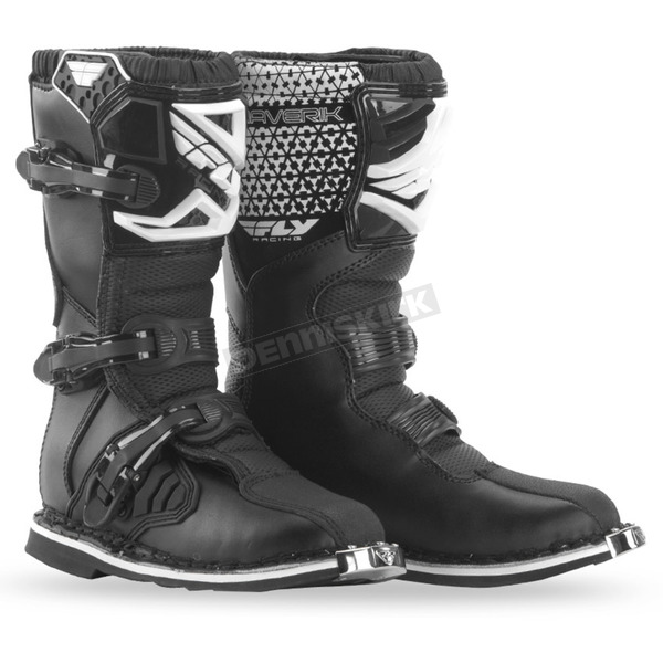 Fly Racing Youth Black Maverik Boots - 364-56105