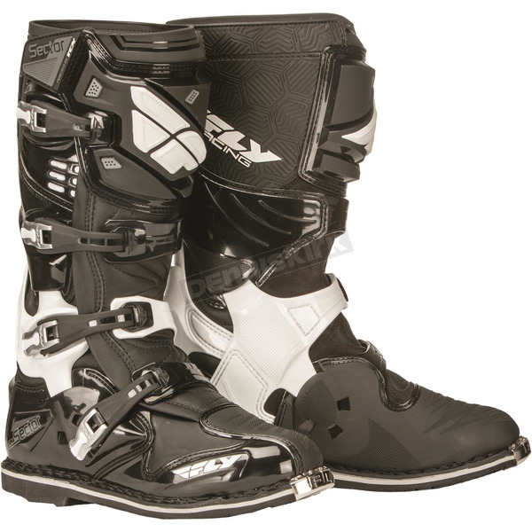 Fly Racing Black Sector Boots - 363-57013