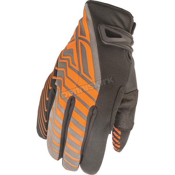 Fly Racing Black/Orange Title Cold Weather Gloves - 368-04711