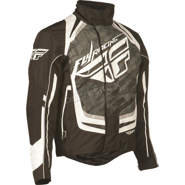 Fly Racing Black/White SNX Pro Jacket - 470-21802X
