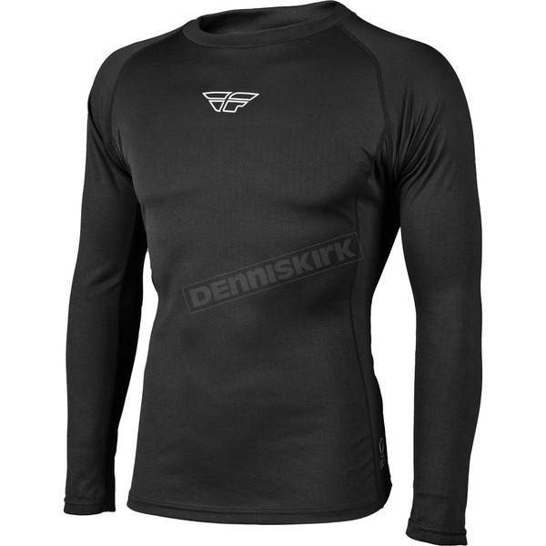 Fly Racing Black Lightweight Base Layer Top - 354-6081M