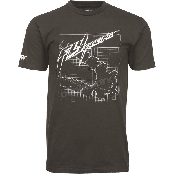 Fly Racing Black Focus T-Shirt - 352-0700L