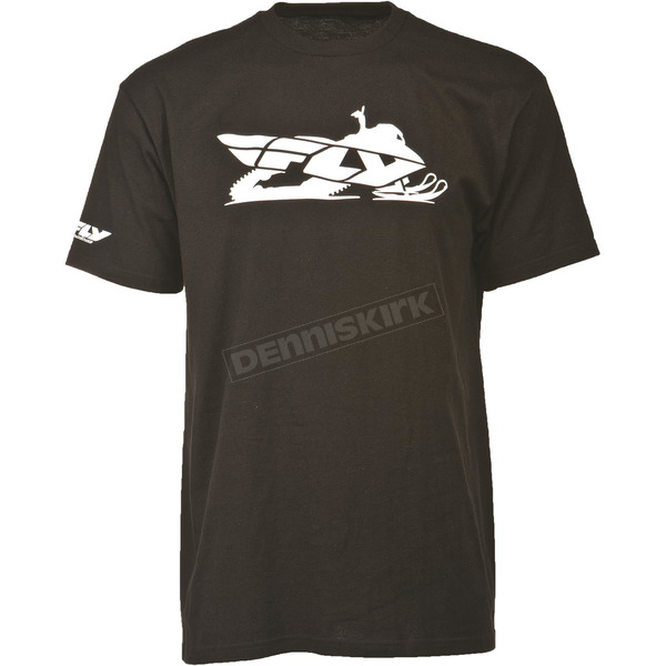 Fly Racing Black Primary T-Shirt - 352-05202X