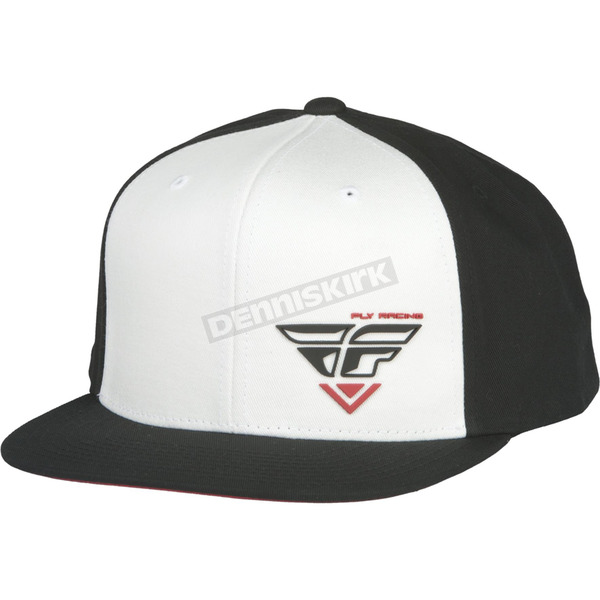 Fly Racing Black/White Choice Snapback Hat - 351-0540