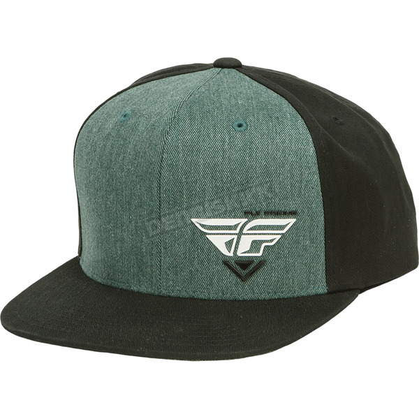 Fly Racing Black/Heather Choice Snapback Hat - 351-0546