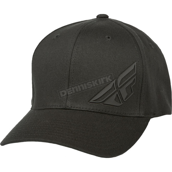 Fly Racing Black F-Wing FlexFit Hat - 351-0390S