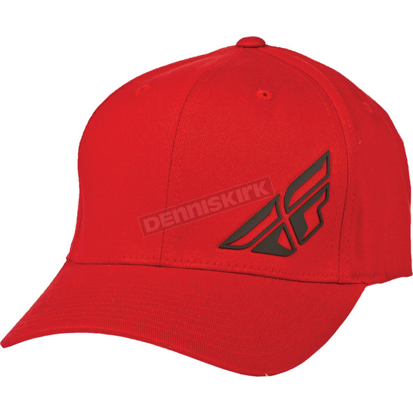 Fly Racing Red F-Wing FlexFit Hat - 351-0392S