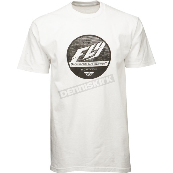 Fly Racing White Clique Premium T-Shirt - 352-0384L