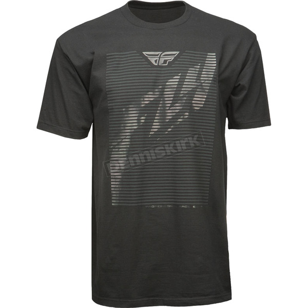 Fly Racing Black Shaded T-Shirt - 352-0390X