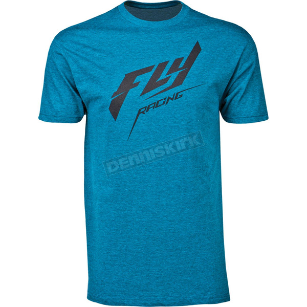 Fly Racing Heather Cyan Stock Premium T-Shirt - 352-05872X