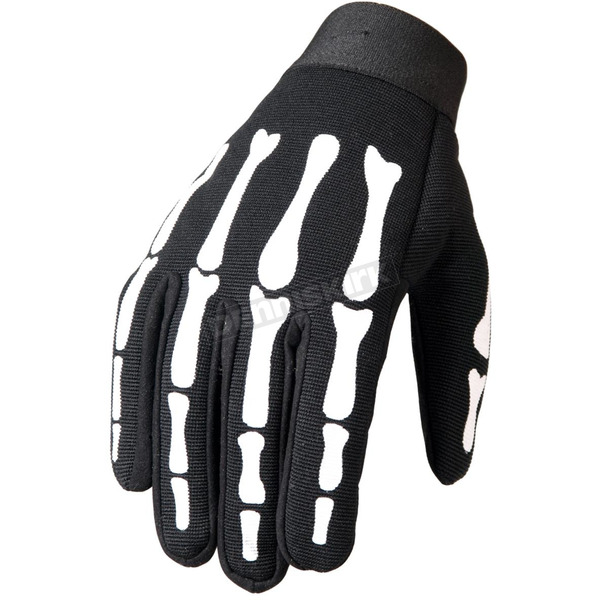 Hot Leathers Skeleton Mechanics Gloves - GVM2007L