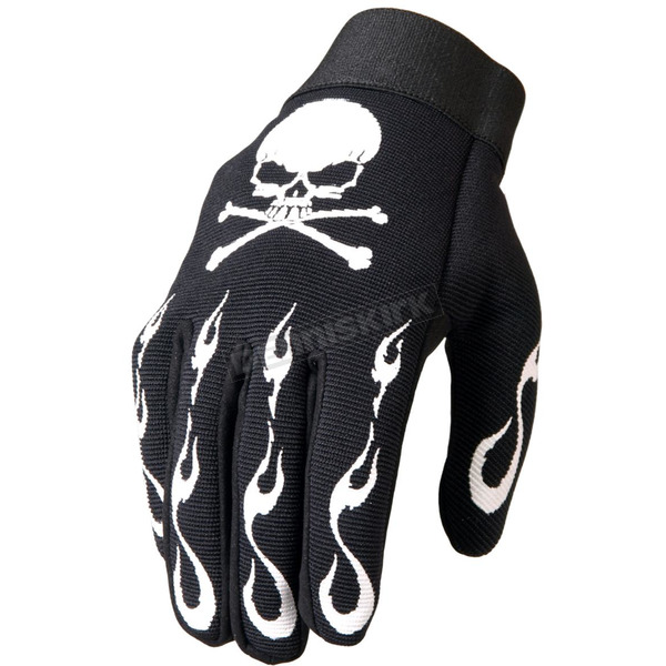 Skull & Crossbones Mechanics Gloves - GVM2006L