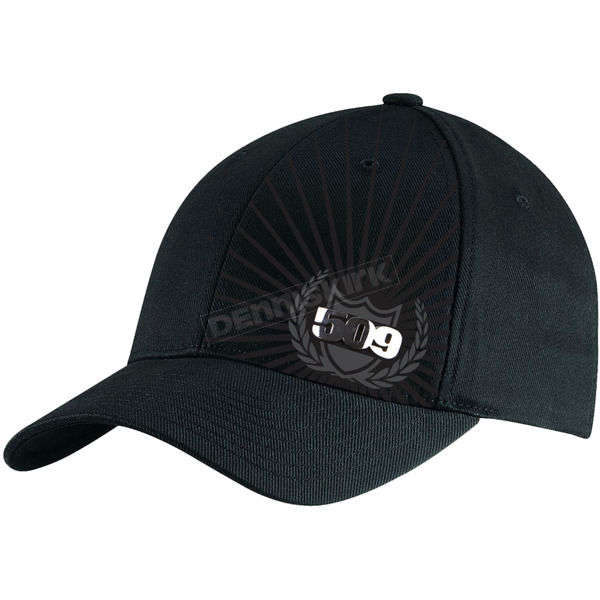 509 Black Chrome Emblem Flex-Fit Hat - 509-HAT-EMB-LX