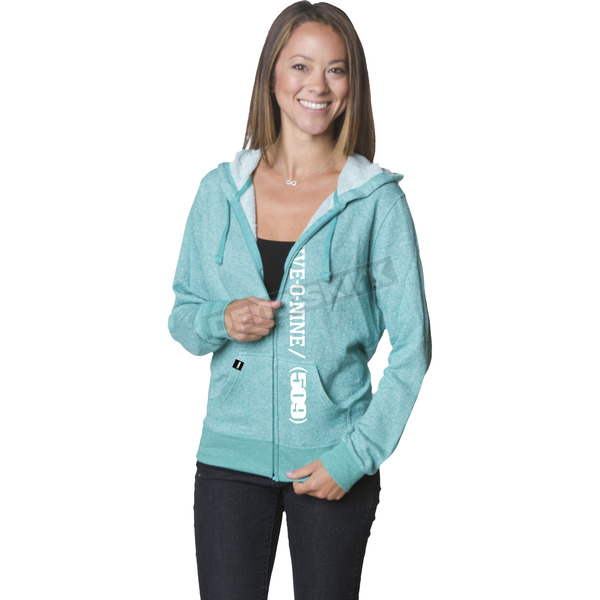 509 Women's Teal Five-0-Nine Zip Hoody - 509-CLO-WFTZ-MD