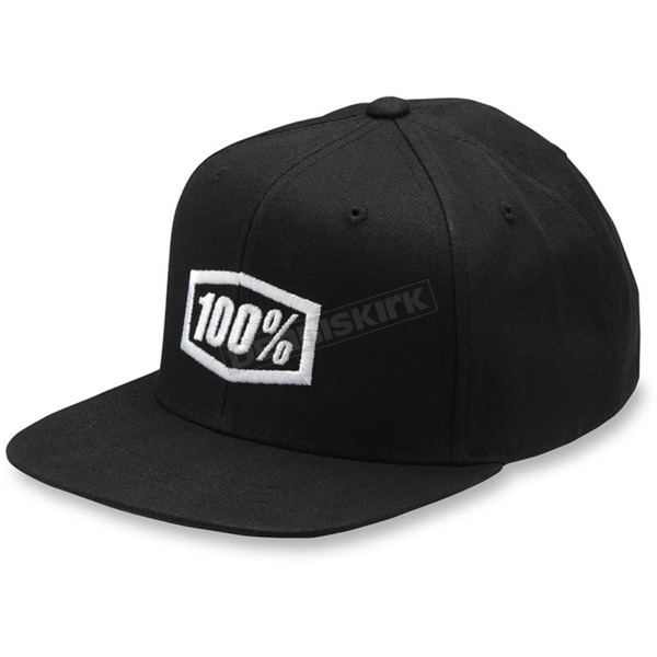 100% Youth Black Corpo Snapback Hat - 20015-001-00