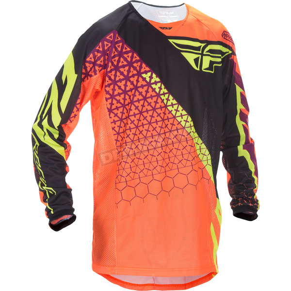 Fly Racing Flo Orange/Black Kinetic Mesh Trifecta Jersey - 370-327M