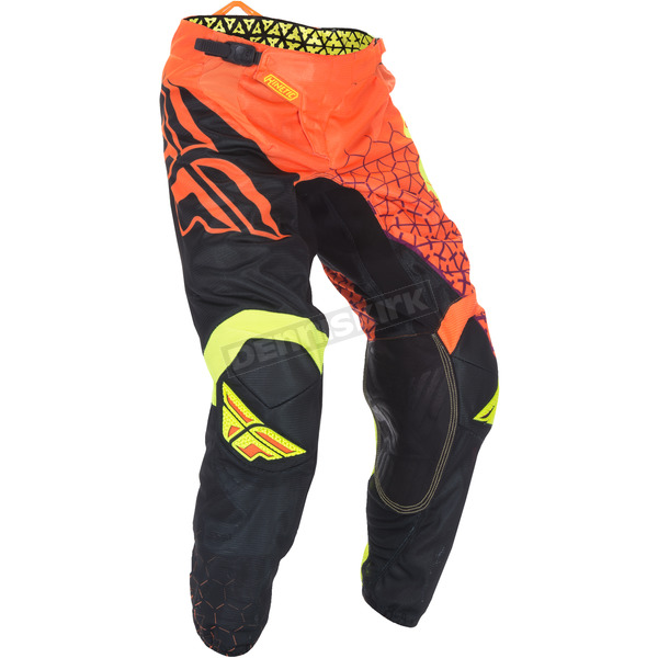 Fly Racing Flo Orange/Black Kinetic Mesh Trifecta Pants - 370-33736