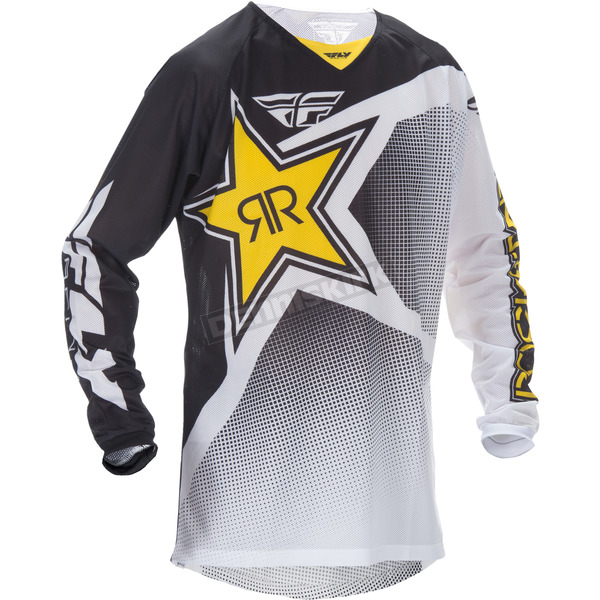 Fly Racing Black/White Rockstar Kinetic Mesh Trifecta Jersey - 370-329X