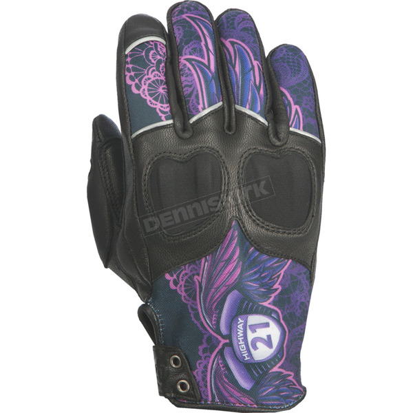 Highway 21 Women's Purple Lace Vixen Gloves - 489-0092S