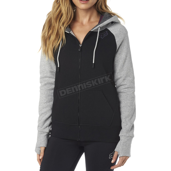 Fox Women's Black Permafrost Polar Fleece Zip Hoody - 18072-001-M
