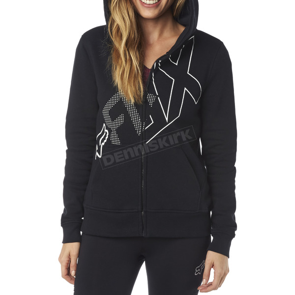 Fox Women's Black Attent Zip Hoody - 18134-001-M
