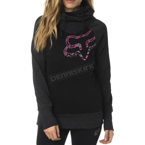 Fox Women's Black Aired Pullover Hoody - 18183-001-S