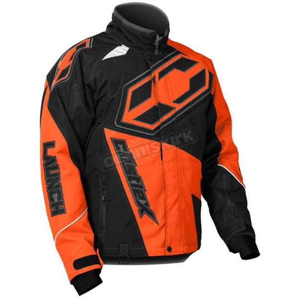 Castle X Orange/Black Launch G4 Jacket - 70-5454