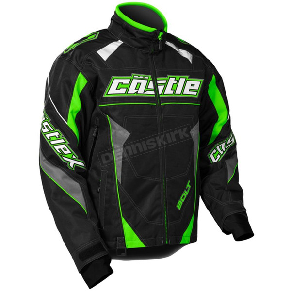 Castle X Green/Black Bolt G4 Jacket - 70-5649T