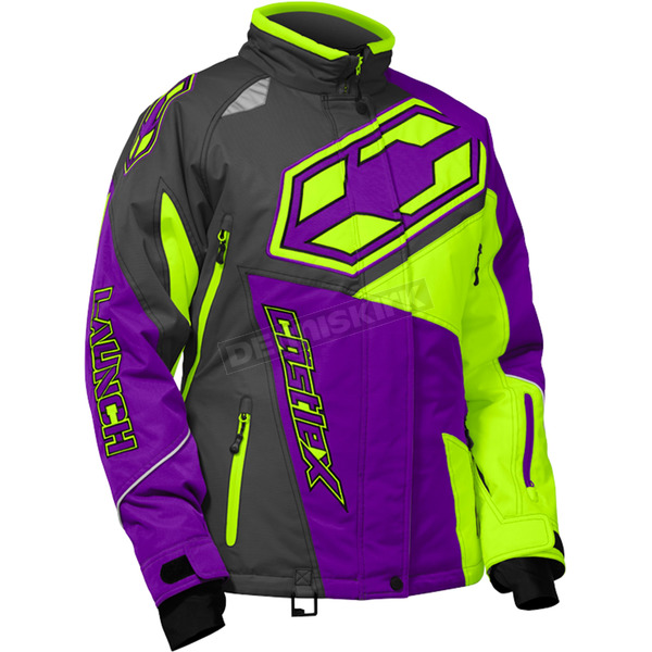 Castle X Women's Grape/Hi-Vis Launch SE G4 Jacket - 71-1131