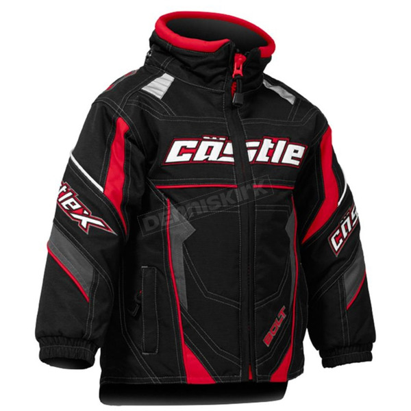 Castle X Toddler Red/Black Bolt G4 Jacket - 72-6114