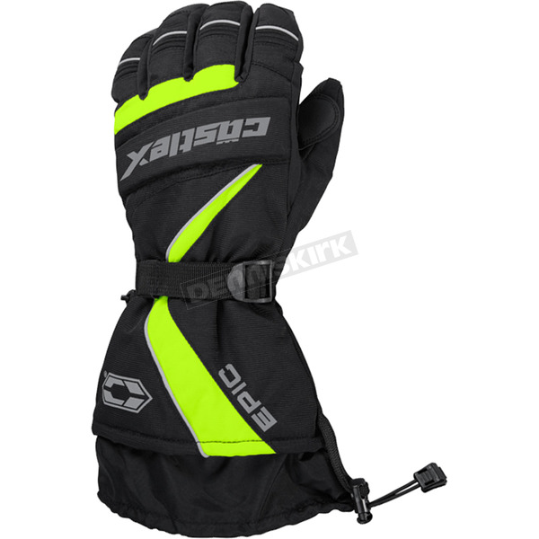 Castle X Hi-Vis/Black Epic Gloves - 74-5222