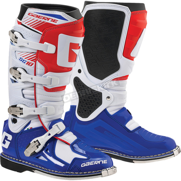 Gaerne Red/White/Blue SG-10 Boots - 480-02711