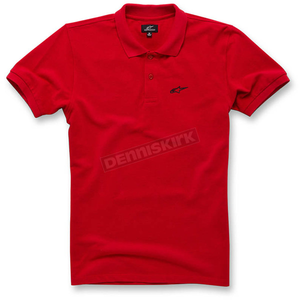Alpinestars Red Effortless Polo Shirt - 103642008-30XL