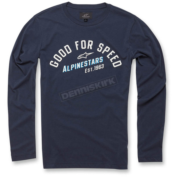Alpinestars Navy Upshift Long Sleeve Knit Shirt - 103642000-702X