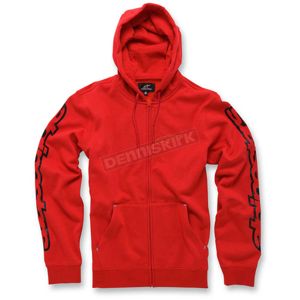 Alpinestars Red Determine Fleece Hoody - 103653010-30L