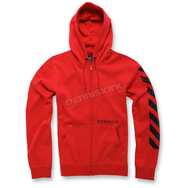 Alpinestars Red Debrief Fleece Hoody - 103653009-30XL