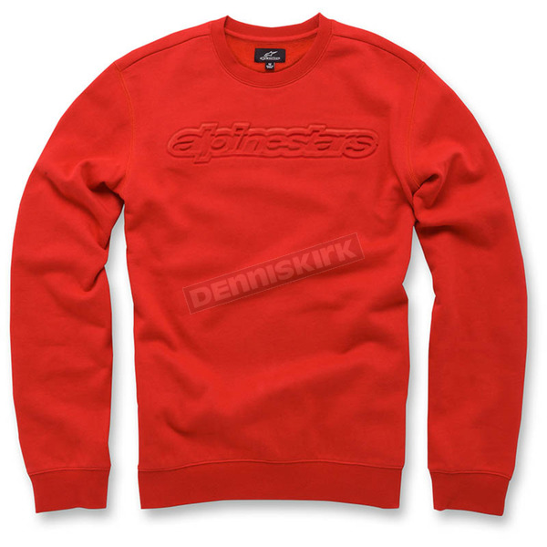 Alpinestars Red Recognize Fleece Pullover - 103651006-30XL