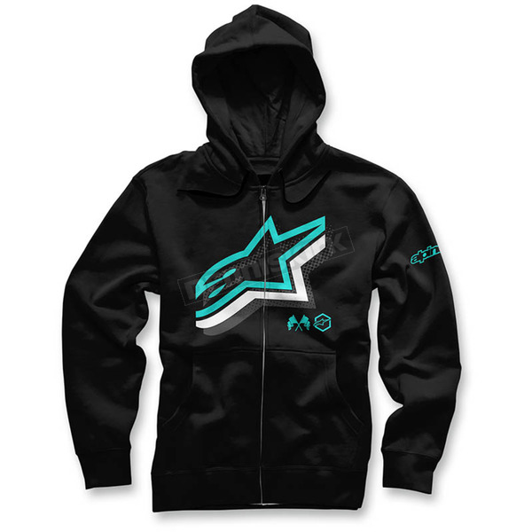 Alpinestars Black Halogen Zip Hoody - 103653012-10XL