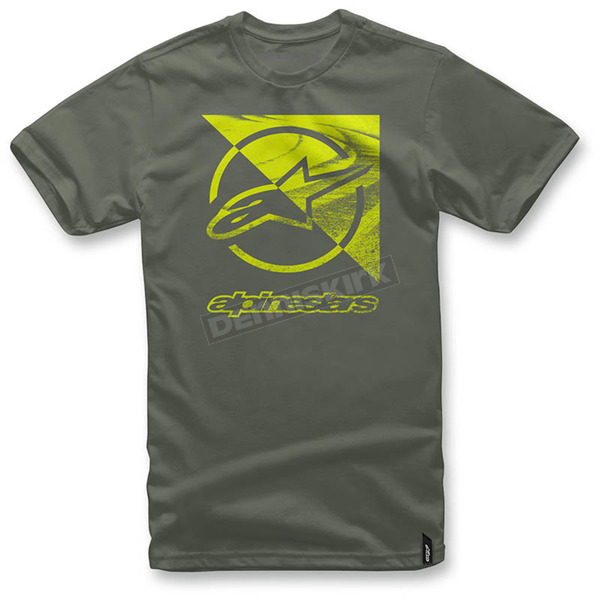 Alpinestars Military Green Rift T-Shirt  - 1036-72006-690L