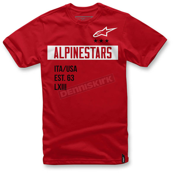 Alpinestars Red Valiant T-Shirt  - 1036-72002-30XL