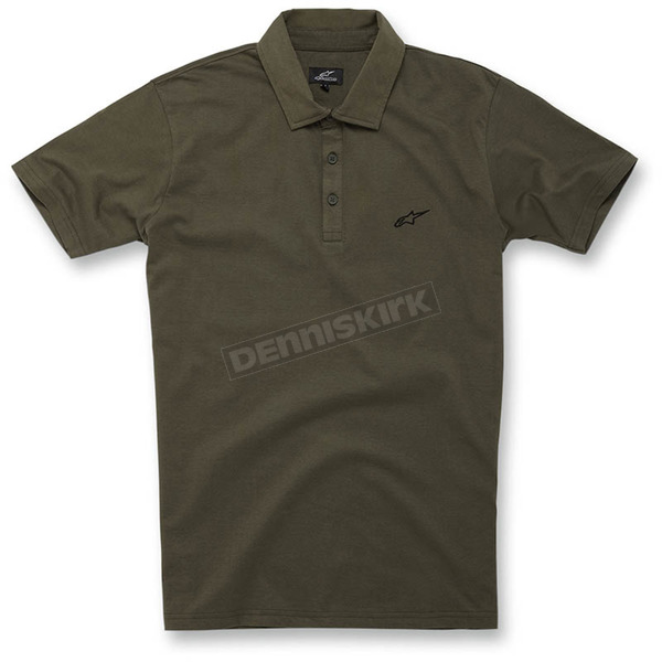 Alpinestars Army Green Perpetual Polo Shirt - 1016-41005-69L