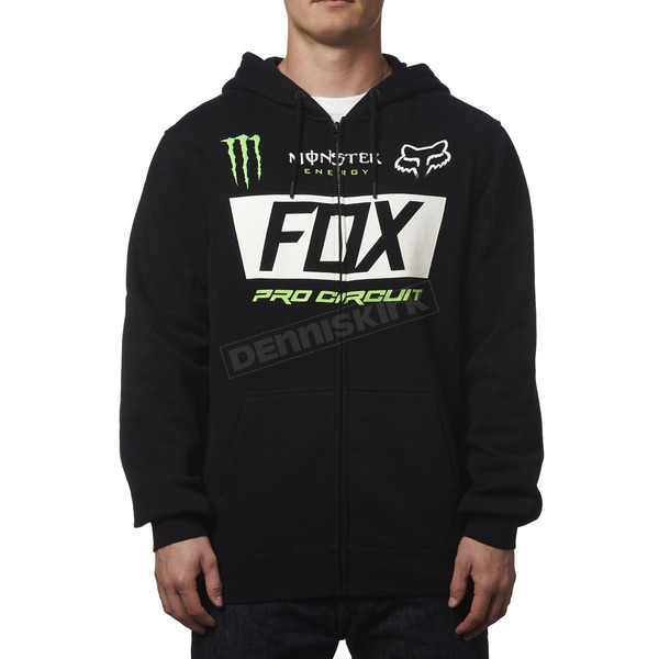 Fox Monster Energy Paddock Zip Hoody - 19364-001-S