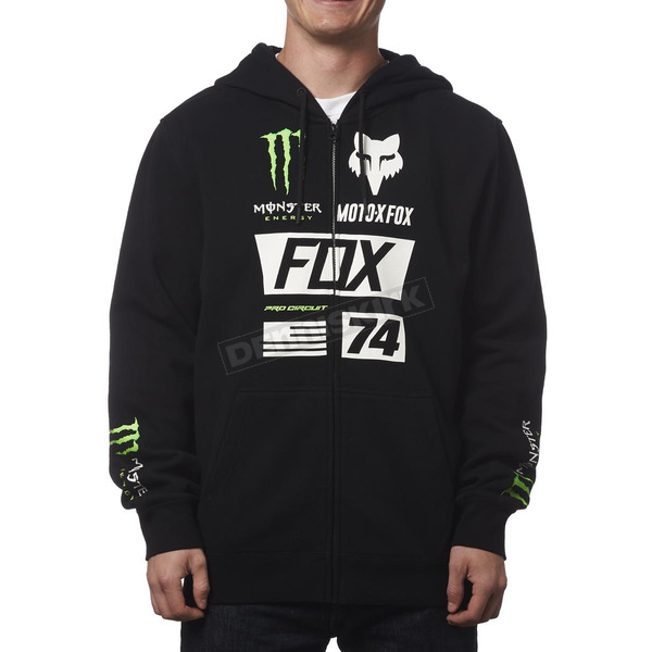 Fox Monster Energy Union Zip Hoody - 19365-001-2X