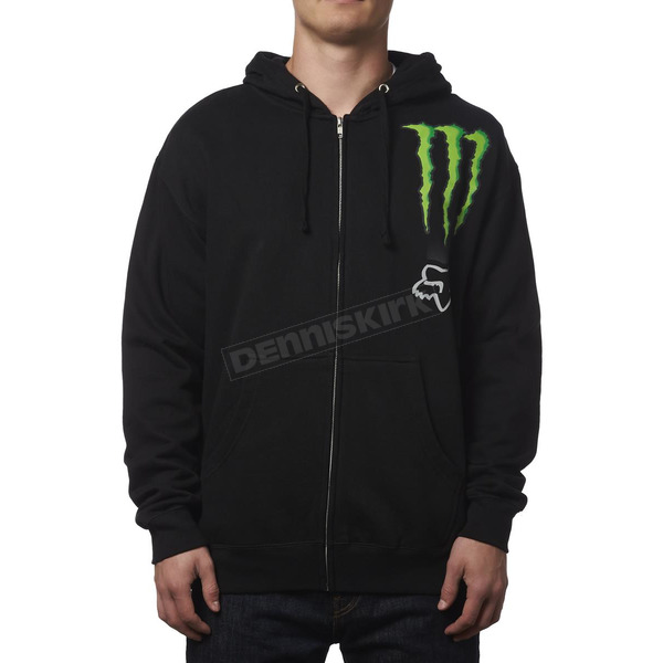 Fox Monster Energy Zebra Zip Hoody - 19366-001-XL