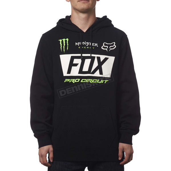 Fox Monster Energy Paddock Pullover Hoody - 19367-001-2X