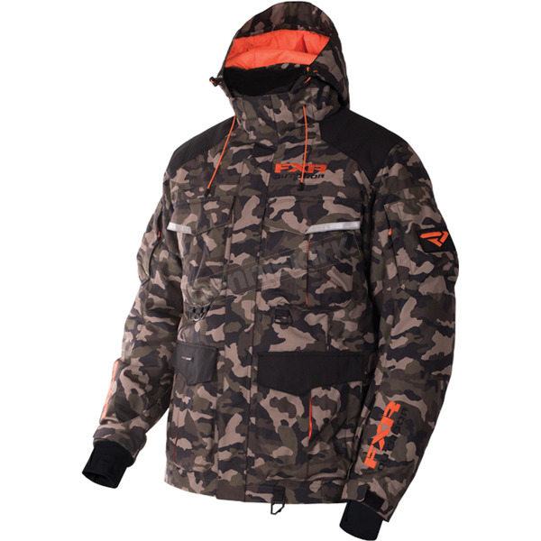 FXR Racing ARmy Urban Camo/Orange Excursion Jacket - 170013-7630-19