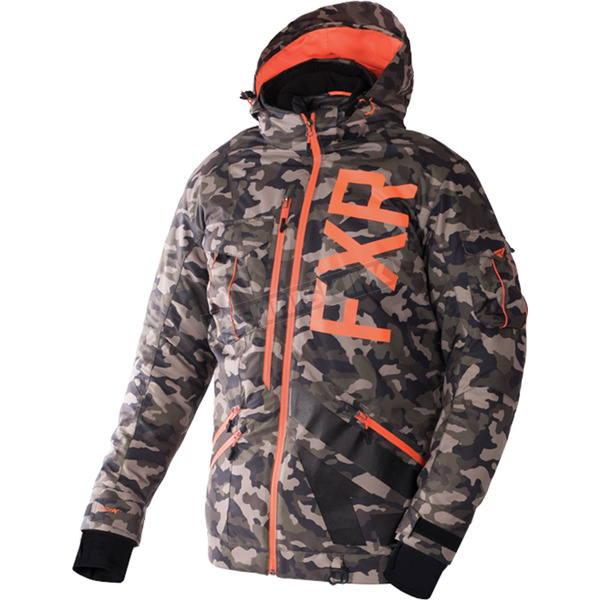 FXR Racing Army Urban Camo/Orange Maverick Jacket - 170026-7630-10