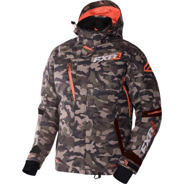 FXR Racing Army Urban Camo/Orange Mission Jacket - 170008-7630-22