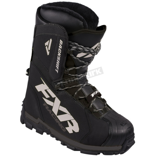 FXR Racing Black Backshift Core Boots - 170704-1000-08
