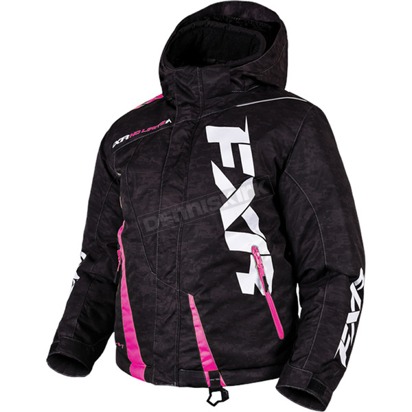 FXR Racing Youth Black Digi/Electric Pink Boost Jacket - 170404-1194-10